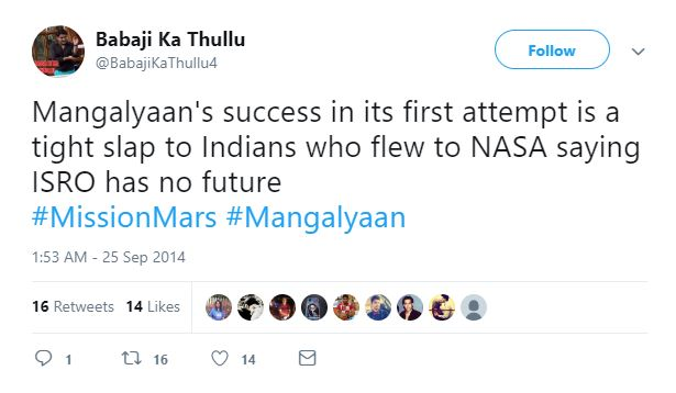 Relive The Proud Moment Of Mangalyaan's Victory With These Inspiring Tweets